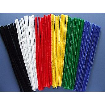 60 Bright Vivid Chenille Pipe Cleaners   Chenille Stems