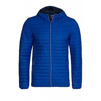 Wrangler buffer jacket mens Quilted Jacket hooded jacket blue