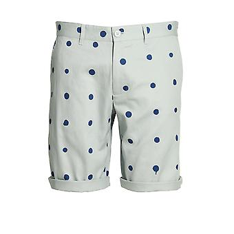 HERO'S HEROINE Polka Dot Cotton Twill Shorts | Blue
