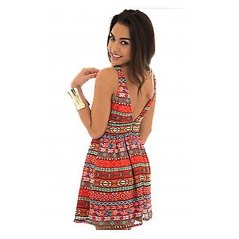 The Fashion Bible Starlett Aztec Backless Dress
