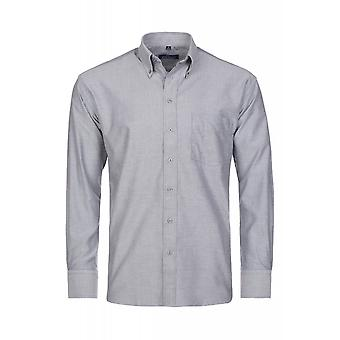 DERBY OF SWEDEN shirt men's long sleeve-grey button down shirt