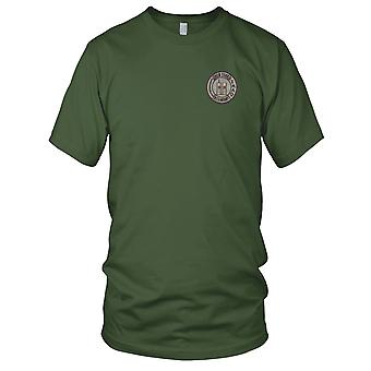 US Army - 105th Infantry Regiment Embroidered Patch - Mens T Shirt