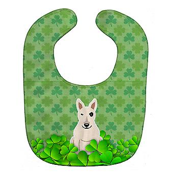Carolines Treasures  BB6279BIB Bull Terrier White Shamrocks Baby Bib