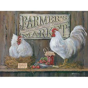 Farmers Market Poster Print by Pam Britton (16 x 12)