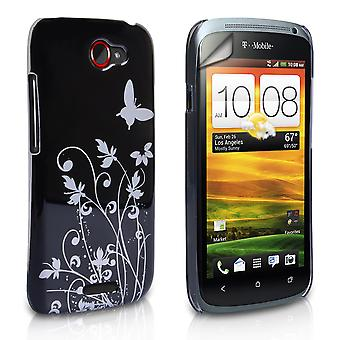 Yousave Accessories HTC One S Butterfly IMD Hard Case - Black
