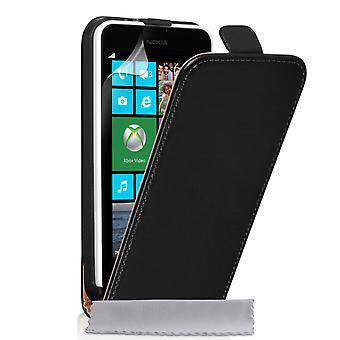 Caseflex Nokia Lumia 630 Real Leather Flip Case - Black