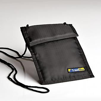 Portfolio security neck, beige - black (Security Neck wallet)