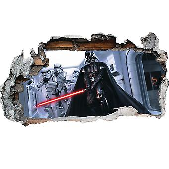 GNG Darth Vader from Starwars Storm Smashed Wall Decal Poster 3D Art Stickers Vinyl Room