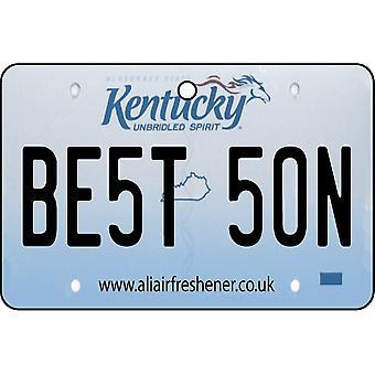 Kentucky - Best Son License Plate Car Air Freshener