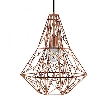Birdnest Cage Pendant Light - Copper