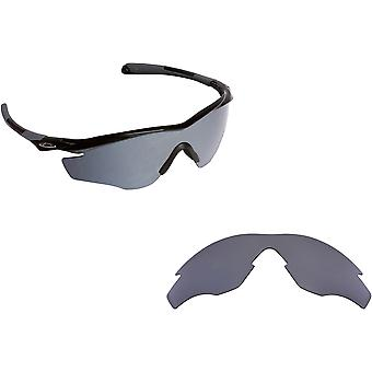 M2 Frame Asian Fit Replacement Lenses Polarized Silver by SEEK fits OAKLEY