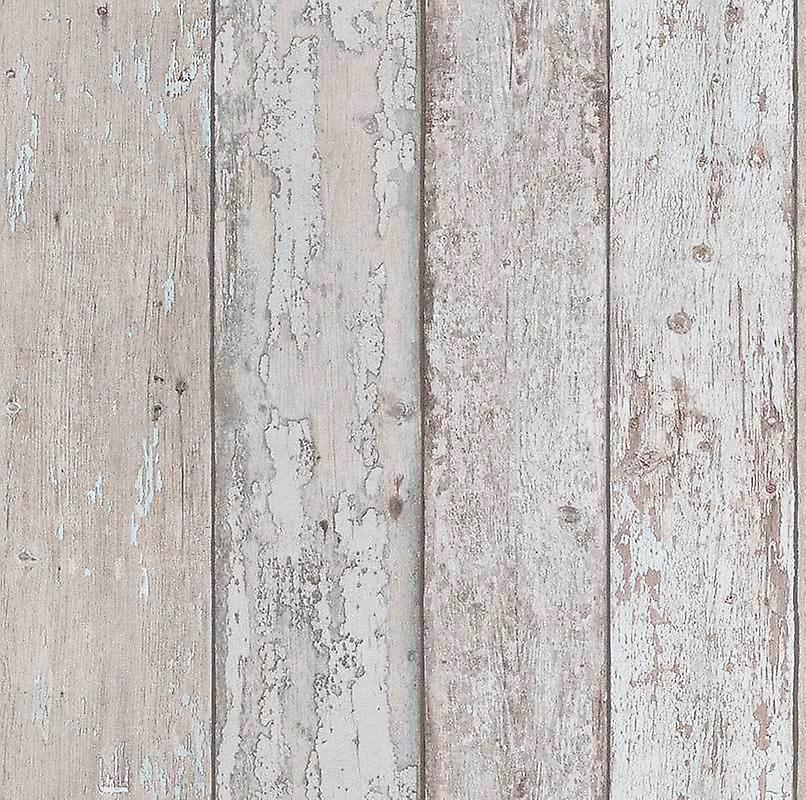 Wood Effect Wallpaper Grains Distressed Boards Planks Luxury Grey