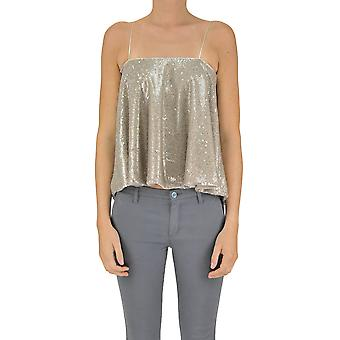 Soallure ladies MCGLTPT03094E gold polyester top