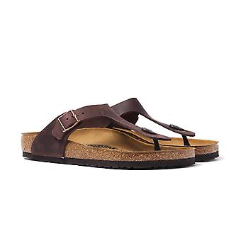 Birkenstock Brown Leather Gizeh Sandal