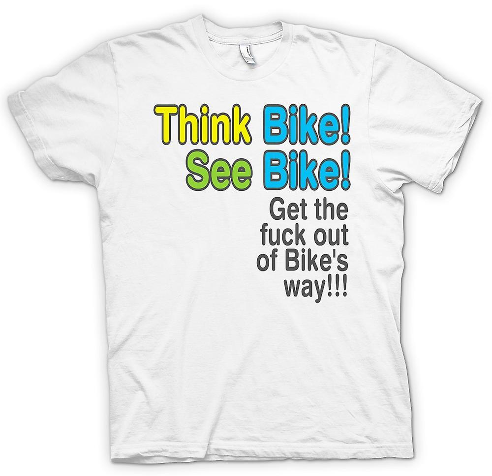 Womens T-shirt - Think Bike, See Bike - Quote