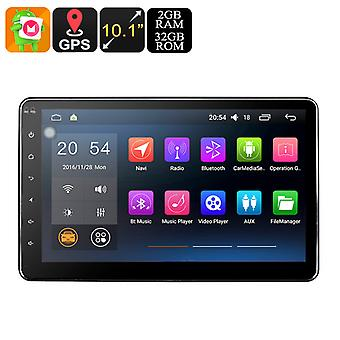 Universal 2 DIN Android Car Radio - 2GB RAM, 32 GB Internal Storage Space, Bluetooth, Wi-Fi Enabled, GPS, 10.1 Inches Screen