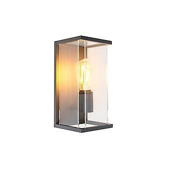 QAZQA Modern Outdoor Wall Lamp Dark Grey - Zaandam
