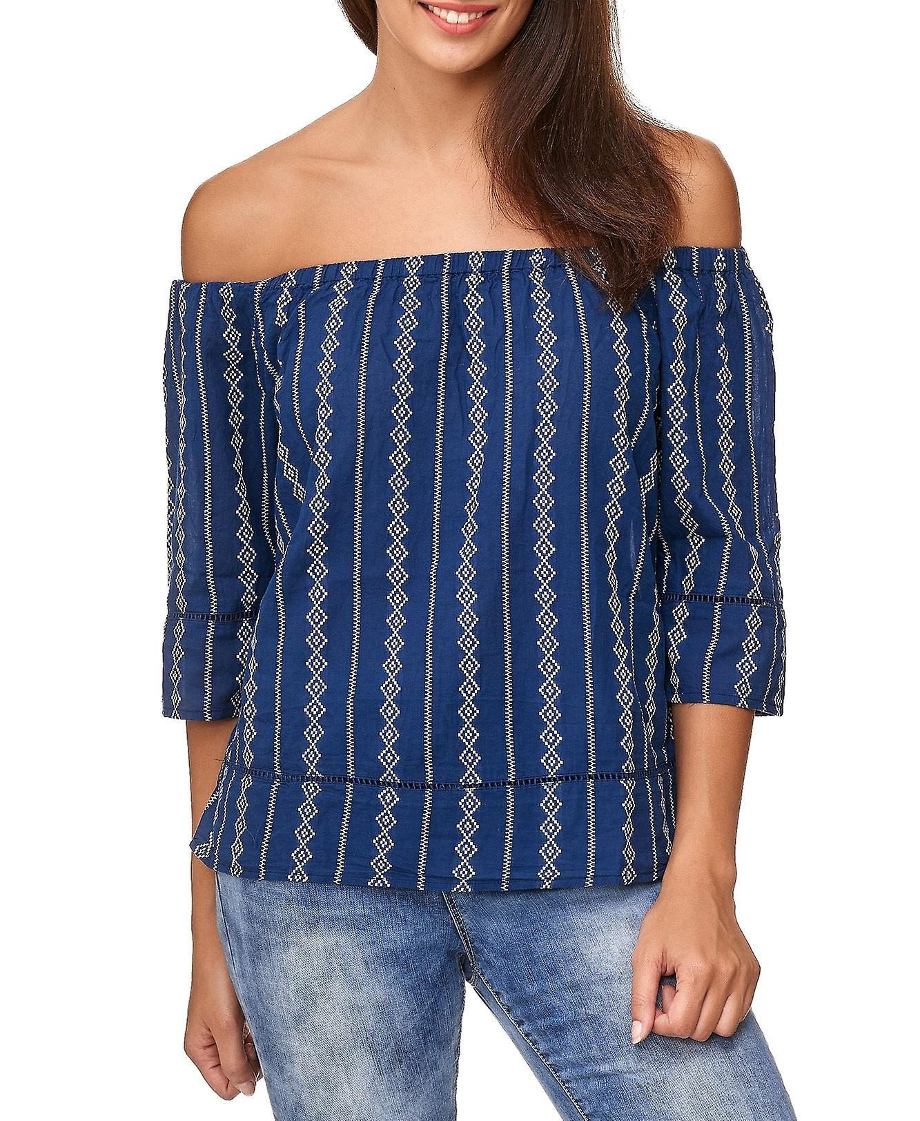c052ff24d17df4 JDY Ladie s Shirt Carmen Neckline Off Shoulder Top Blouses 3 4 Sleeves  Women s