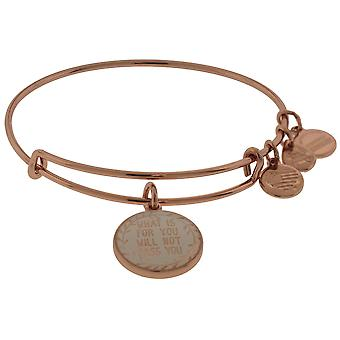 Alex en Ani wat voor jou is passeert niet u charme Bangle - glanzende Rose Gold - A17EB67SR