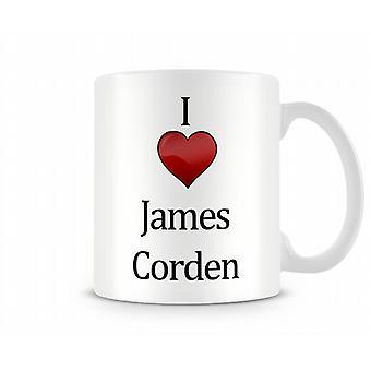 Jag älskar James Corden tryckta mugg
