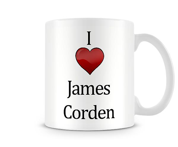 I Love James Corden Printed Mug