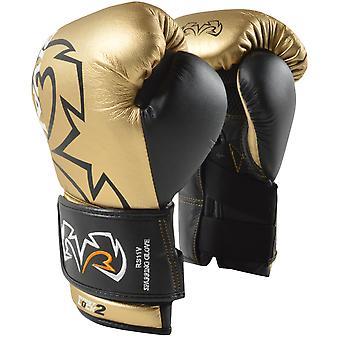 Rywal RS11V-ewolucja hak i pętli rękawice bokserskie sparing - złoto