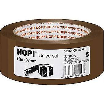 Cinta de embalaje Nopi® marrón (L x W) 66 m x 38 m m Nopi