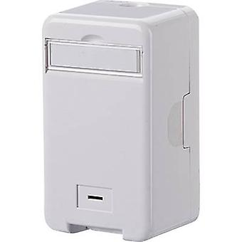 Metz Connect Network outlet Surface-mount Unequipped 1 port Pure white