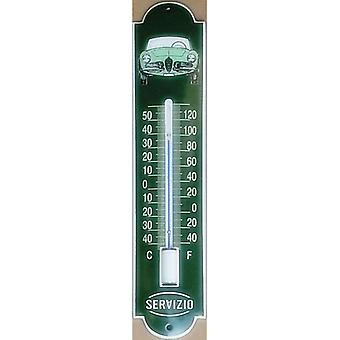 Alfa Romeo Spider Vitreous Enamelled Steel Thermometer - Green