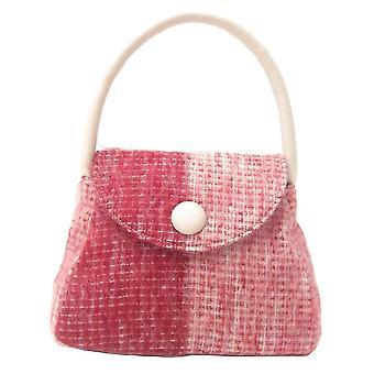 Harris Tweed or Tartan Handbag S (Mohair Red)