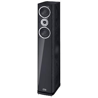 Heco music style 800, Floorstanding speaker, 3 way bass reflex with Sidefire bass, color: black, 1 of pair new goods