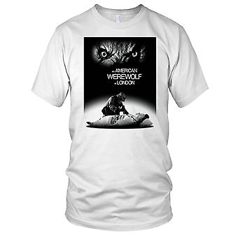 American Werewolf In London B&W Horror Damen T Shirt