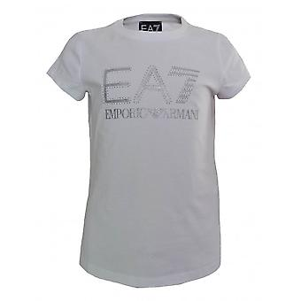 EA7 Girls White T-Shirt
