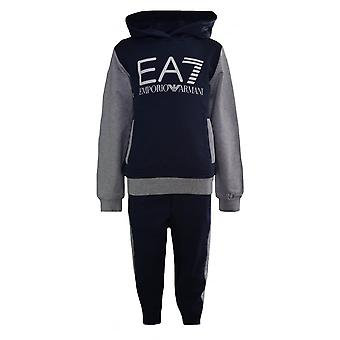EA7 Boys EA7 Kids Navy And Grey Tracksuit