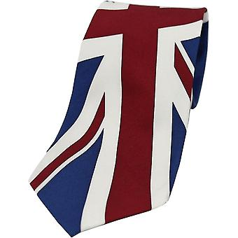 Corbata de seda de David Van Hagen Union Jack - azul/rojo/blanco