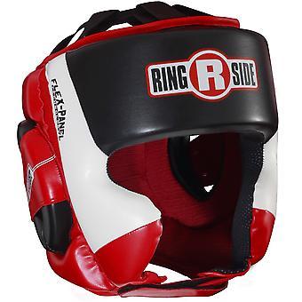 Am Ring Ultra leichten Sparring Boxen Kopfbedeckungen - rot/weiß/schwarz