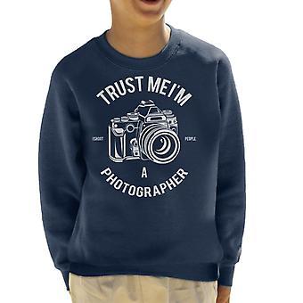 Lita på mig Im A fotograf Kids tröja