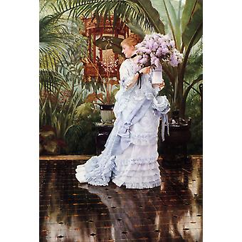 The Bunch of Lilacs,James Tissot,50.8x35.6cm