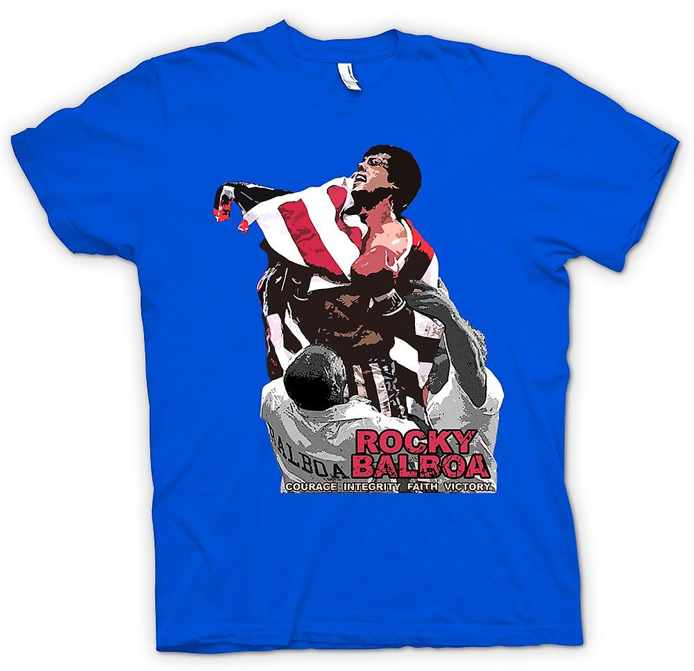Hommes T-shirt - Rocky Balboa - Courage - film de boxe