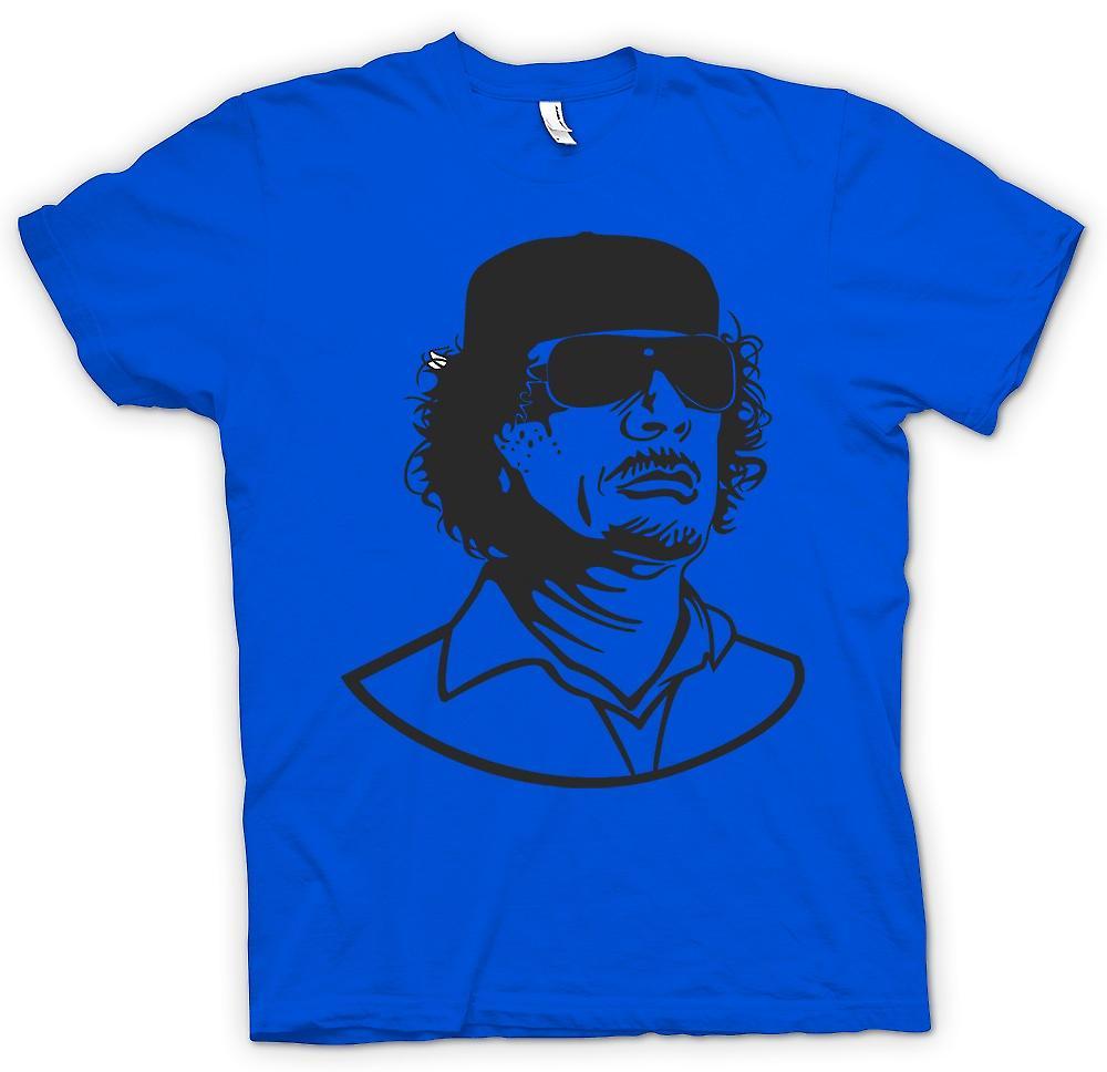 Mens t-skjorte - Gaddafi - libyske diktator portrett