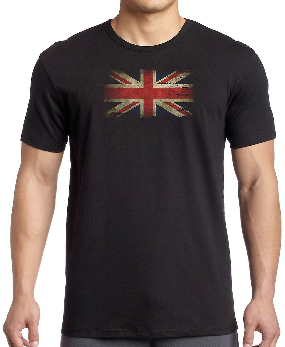 United Kingdon Union Jack Grunge flaggan T Shirt