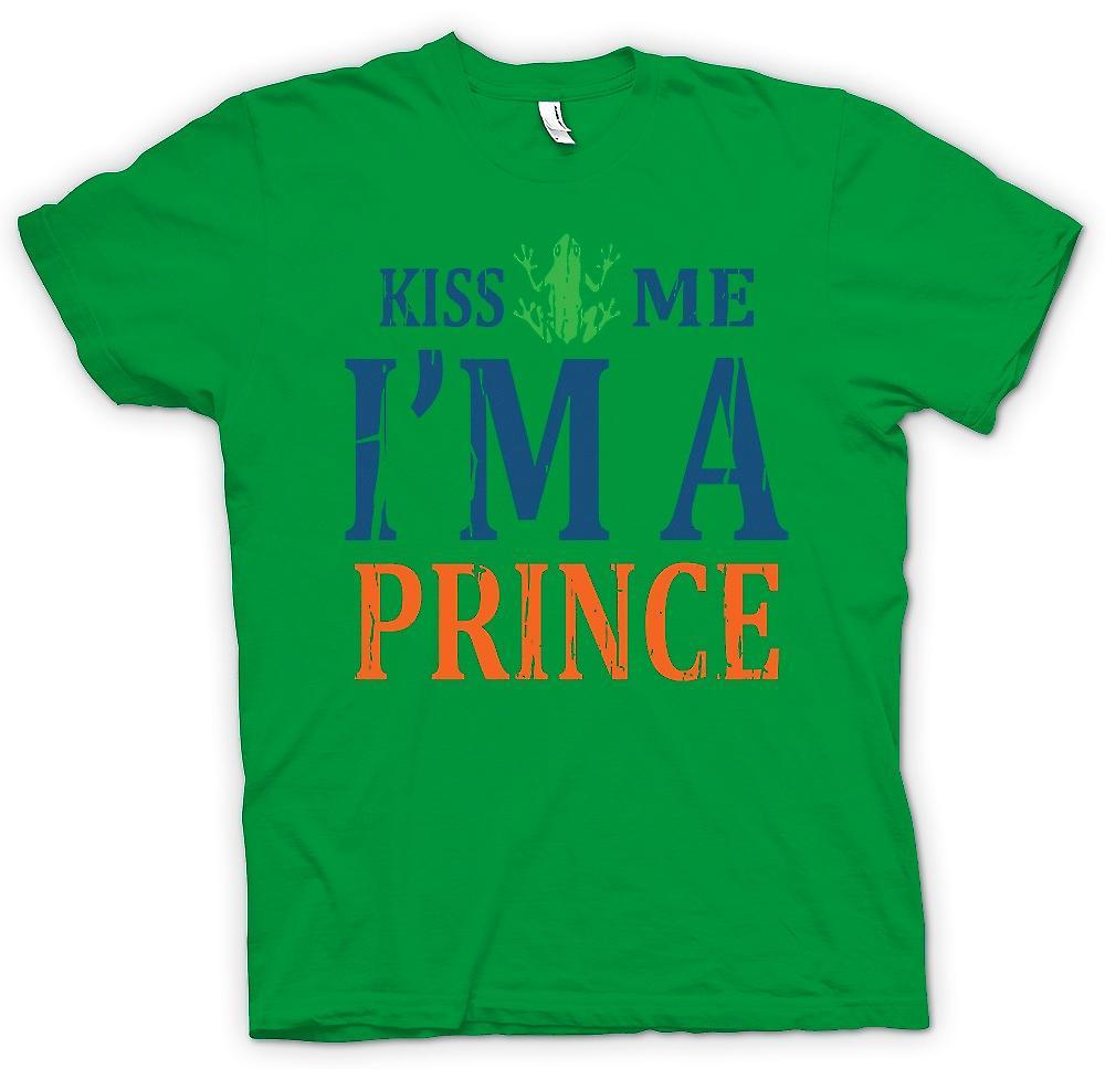 Mens T-shirt - embrasse-moi Im A Prince - drôle