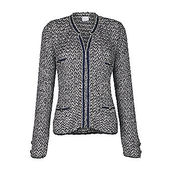 Alba Moda fashionable ladies jacket with 2 knitted bags grey