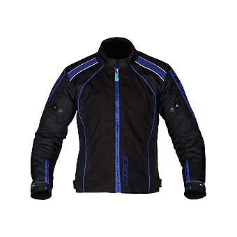 Spada Black Blue Plaza Waterproof Motorcycle Jacket