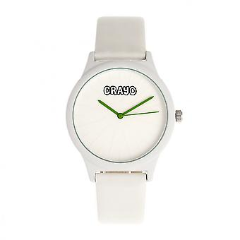 Crayo Splat Unisex Watch - White