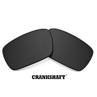CRANKSHAFT Replacement Lenses Polarized Black & Silver by SEEK fits OAKLEY