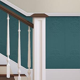 Pasta de papel tapiz se puede pintar los paneles de vinilo 10 de lujo de pared por rollo Anaglypta barroco