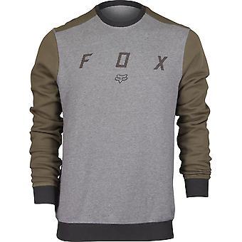 Fox Racing Mens Destrakt Crew Fleece Shirt - Heather Graphite/Olive