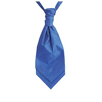 Dobell Boys Royal Blue Cravat Party Wedding Fancy Dress Accessory Dupion