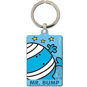 Mr. Bump Metal Keyring